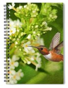 The Hummer And The Butterfly Bush Spiral Notebook