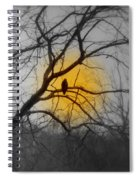 The Hunters Moon And The Barred Owl Spiral Notebook