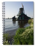 The Iconic Windmills Of  Holland  Spiral Notebook