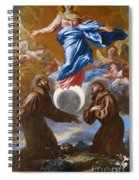 The Immaculate Conception With Saints Francis Of Assisi And Anthony Of Padua Spiral Notebook