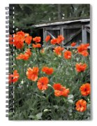 The Inspiration Of Orange Poppies Spiral Notebook