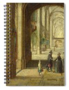 The Interior Of A Gothic Church Looking East Spiral Notebook