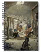 The Interior Of A Hut Of A Mandan Chief Spiral Notebook