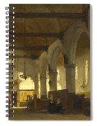 The Interior Of The Bakenesserkerk. Haarlem Spiral Notebook