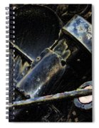 The Internal Parts Abstract Spiral Notebook