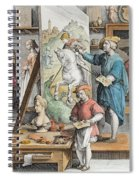 The Invention Of Oil Paint, Plate 15 Spiral Notebook