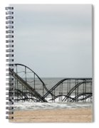 The Jetstar Rollercoaster In Seaside Heights Nj Spiral Notebook