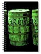 The Keg Room 3 Green Barrels Old English Hunter Green Spiral Notebook