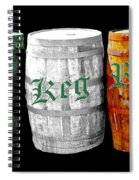 The Keg Room Irish Flag Colors Old English Hunter Green Wave Spiral Notebook