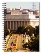 The Key Bridge And Lincoln Memorial Spiral Notebook
