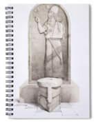 The King And Sacrificial Altar, Nimrud Spiral Notebook