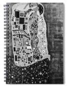 The Kiss Bw Spiral Notebook