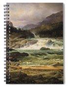 The Labro Falls At Kongsberg Spiral Notebook