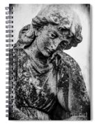 The Lady In Mourning 03 Bw Spiral Notebook
