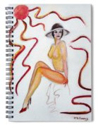 The Lady In Red High Heels Spiral Notebook