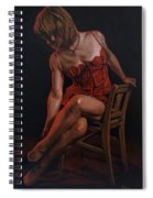 The Lady In Red Spiral Notebook