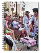 The Laissez Boys At Running Of The Bulls In New Orleans Spiral Notebook