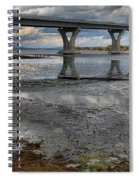 The Lake Champlain Bridge From Cown Point Spiral Notebook