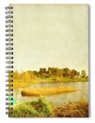 The Lake In Autumn Spiral Notebook