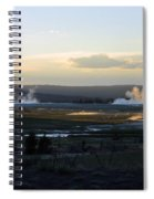 The Land Of Geysers. Yellowstone Spiral Notebook