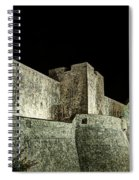 The Landside Walls Of Dubrovnik At Night No1 Spiral Notebook
