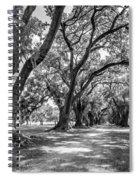 The Lane Bw Spiral Notebook