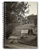 The Lane Sepia Spiral Notebook