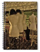 The Last Fashion Show- Old Mannequins Spiral Notebook
