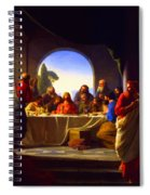 The Last Supper By Carl Heinrich Bloch Spiral Notebook
