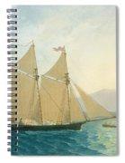 The Launch La Sociere On The Lake Of Geneva Spiral Notebook