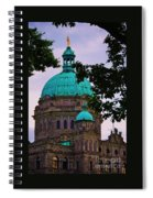 An Aspect Of The Legislative Building, Victoria, British Columbia Spiral Notebook