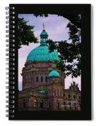 An Aspect Of The Legislative Building, Victoria, British Columbia Spiral Notebook