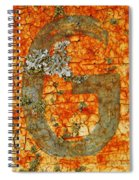 The Letter G With Lichens Spiral Notebook
