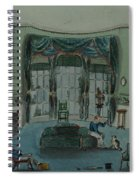 The Library, C.1820, Battersea Rise Spiral Notebook
