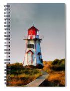 The Light At Covehead Harbour Spiral Notebook