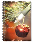 The Light Of Christmas Spiral Notebook