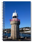 The Lighthouse And Fishing Harbour Spiral Notebook