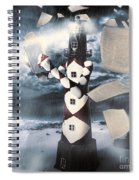The Lighthouse And The Fishermans Tale Spiral Notebook