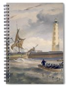 The Lighthouse At Cape Chersonese Spiral Notebook