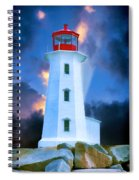 The Lighthouse At Peggys Cove Spiral Notebook