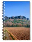 The Lilienstein On An Autumn Morning Spiral Notebook
