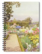 The Lily Border At Great Tangley Manor Spiral Notebook