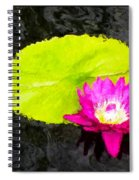 The Lily Pad And Flower... Spiral Notebook