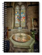 The Limestone Font  Spiral Notebook