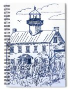 The Lines Of East Point Light In Blue Spiral Notebook