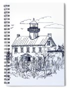 The Lines Of East Point Lighthouse In Blue 2 Spiral Notebook