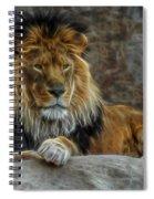 The Lion Digital Art Spiral Notebook
