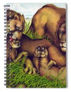 The Lion Family Spiral Notebook