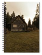 The Little Cabin In The Woods Spiral Notebook