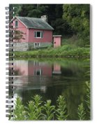 The Little Pink Cabin With Ripples Spiral Notebook